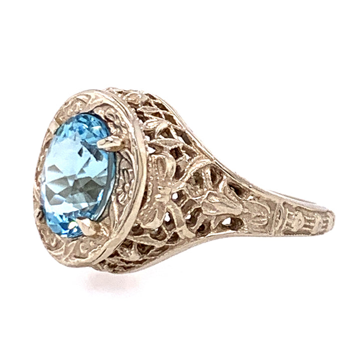 Oval Aquamarine Die-Struck Ring