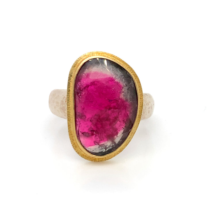 """Toci"" Watermelon Tourmaline Ring"