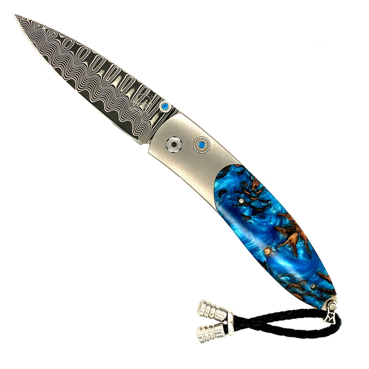 Monarch 'Blue Cone' Damascus Knife
