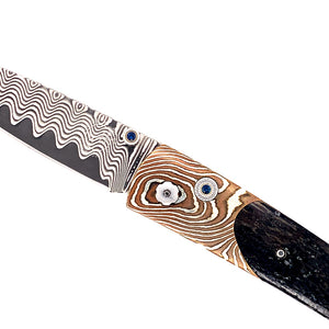 Lancet 'Barrow' Damascus Knife