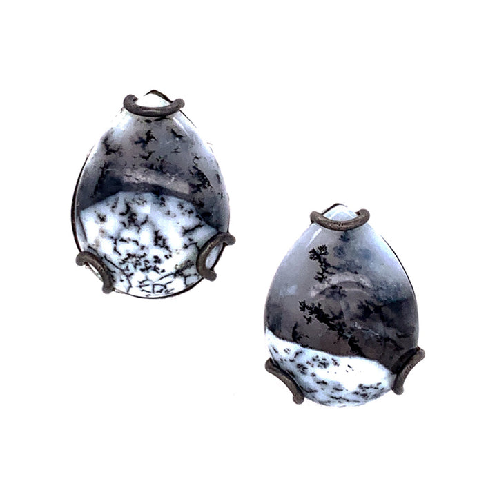 """Bridger in Winter"" Agate Earrings"