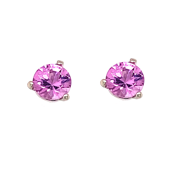 Montana Sapphires unheated pink studs.