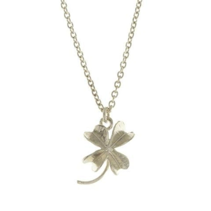 Baby lucky clover necklace by Alex Monroe