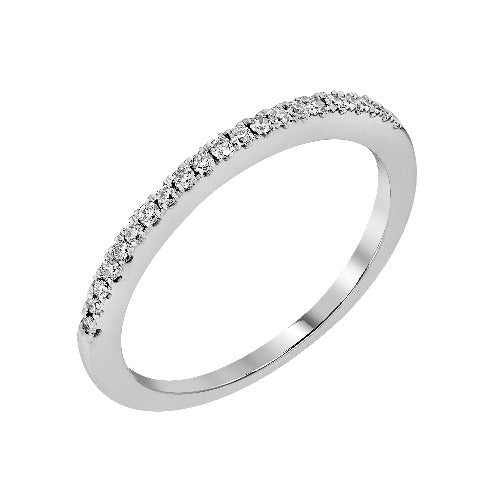 Delicate White Gold and Diamond Band