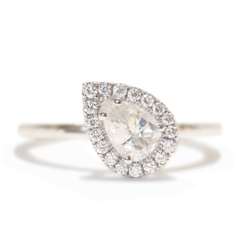 Danhov Pear Shaped Diamond Engagement RIng