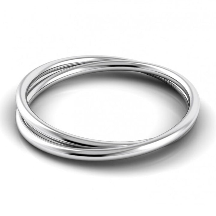 Danhov Eleganza band in 14K white gold