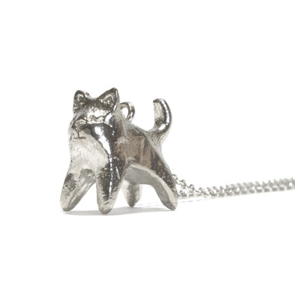 Kitten Sterling Silver Charm Necklace