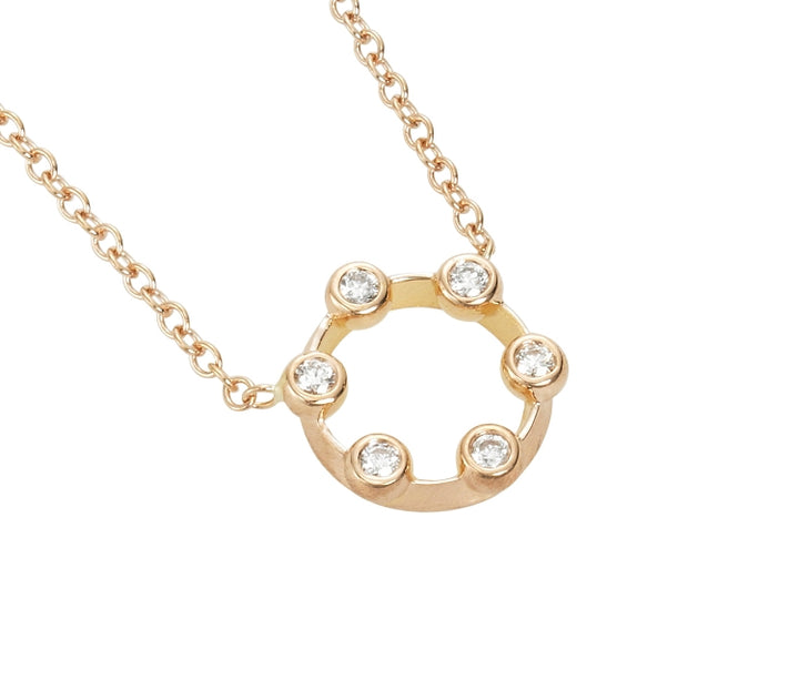 Suzy Landa Mini Circle Diamond Necklace