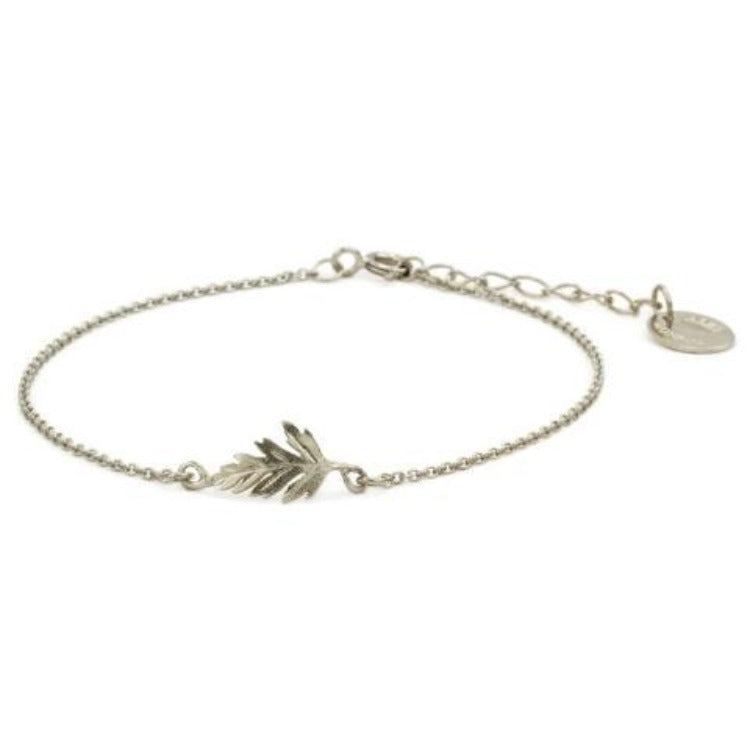 Fern leaf bracelet in silver by Alex Monroe
