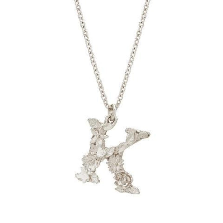 "Floral ""K"" necklace by Alex Monroe"