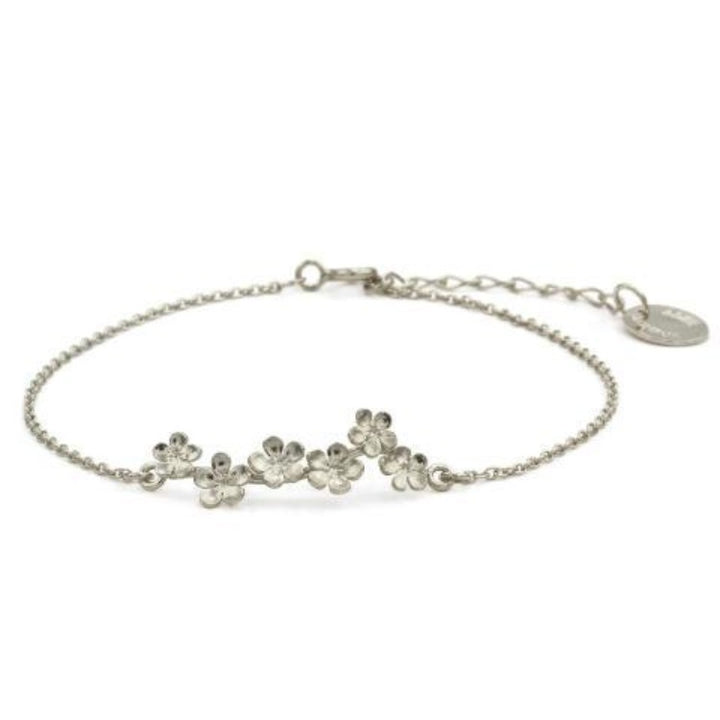 Forget-me-not bracelet in silver by Alex Monroe