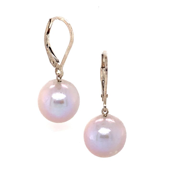 Freshwater Pearl with Sterling Silver Leverback Earrings