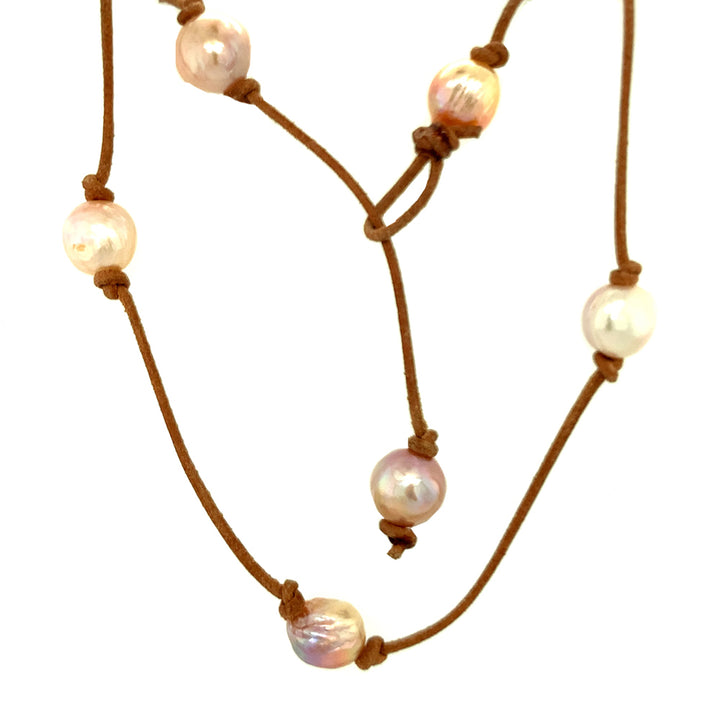 Long Hip Necklace with Edison Pearls