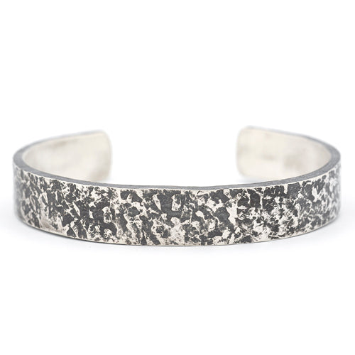 John Paul textured sterling silver cuff