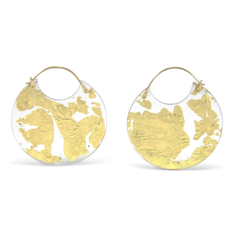 Luana Coonen | Small Gold Leaf Earrings
