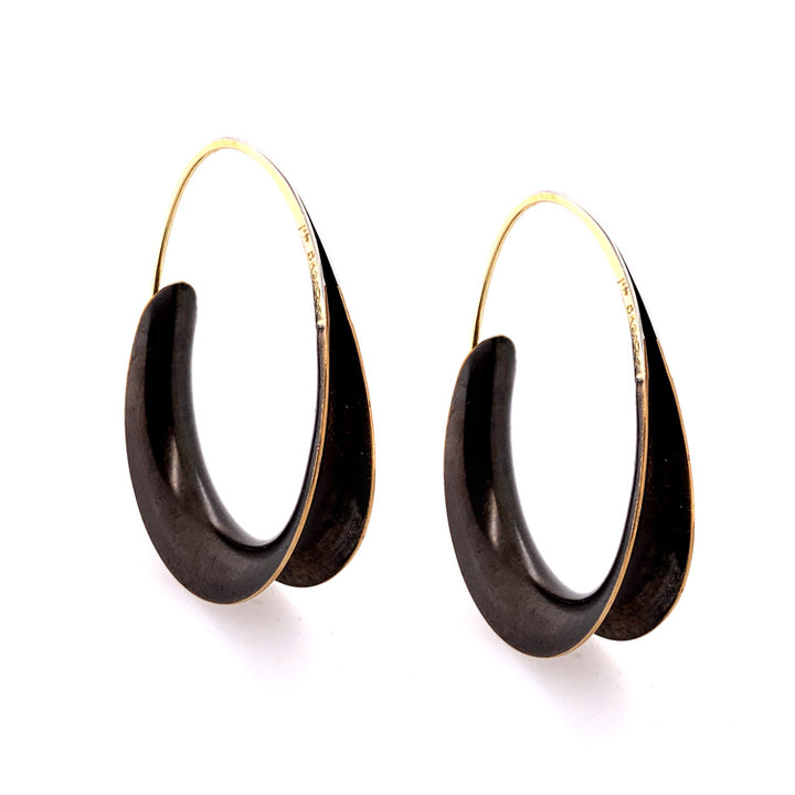 Large Bronze Oval Earrings