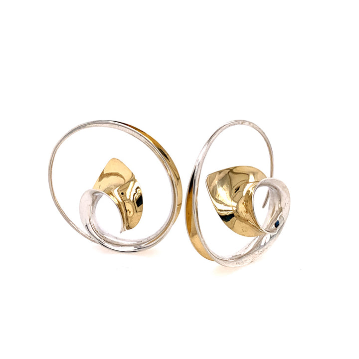 Medium Wave Spiral Earrings