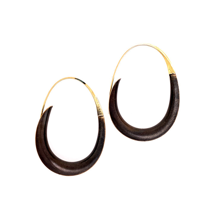 Small Bronze Oval Earrings