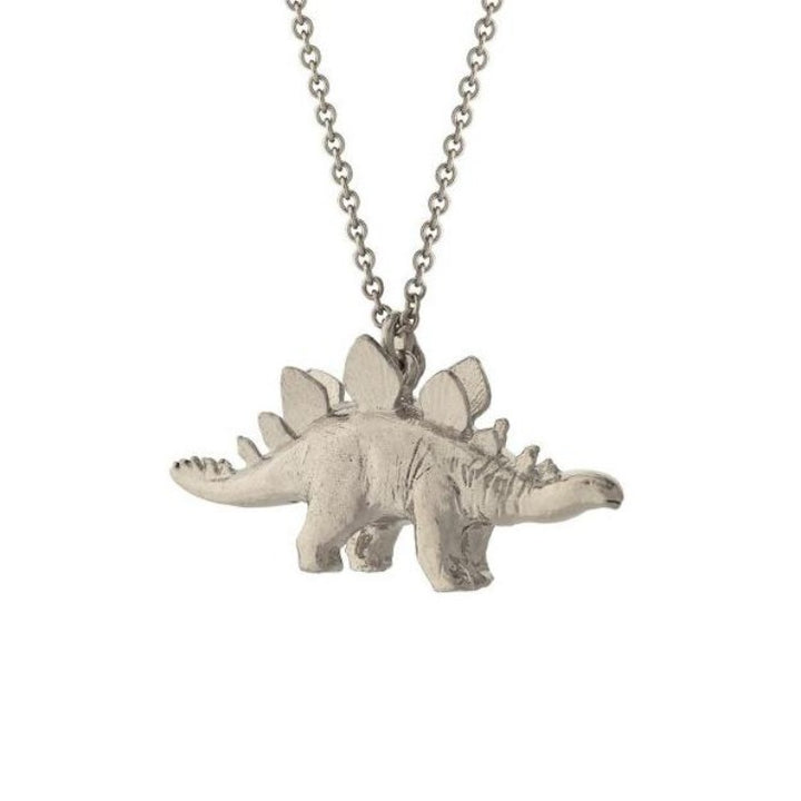 Natural History Stegosaurus Necklace in Silver by Alex Monroe