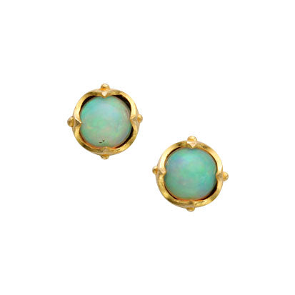 Opal stud earrings by Steven Battelle