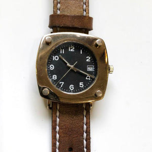 Black and Bronze Watch