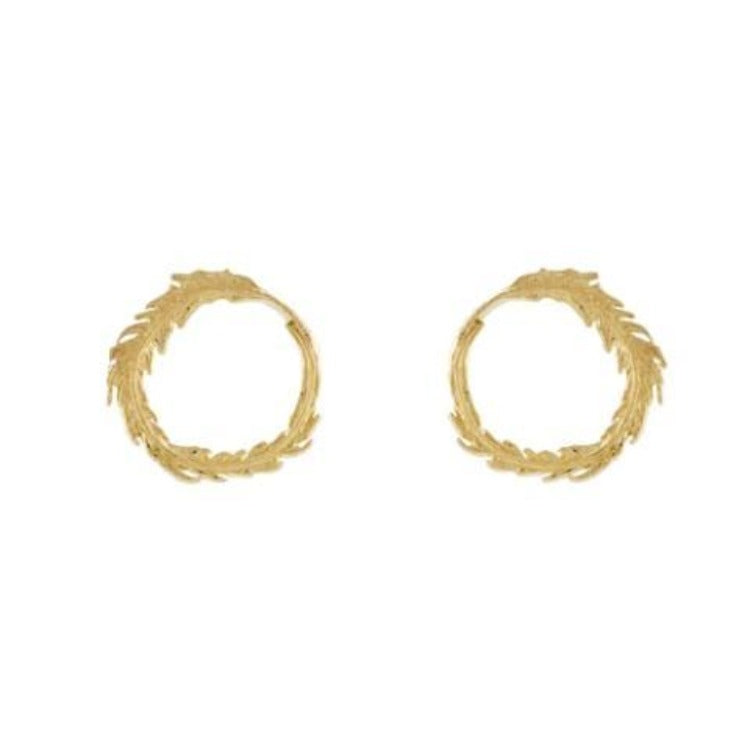 Plume Loop Earrings