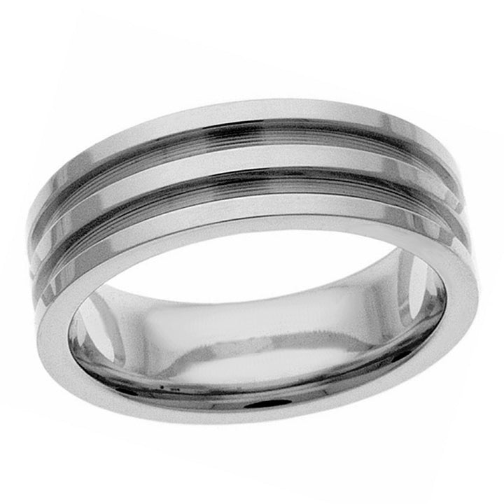 Three groves band in sterling silver