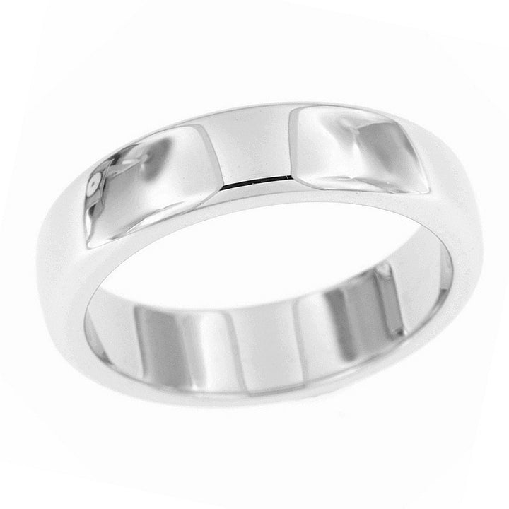 Classic polished band in sterling silver