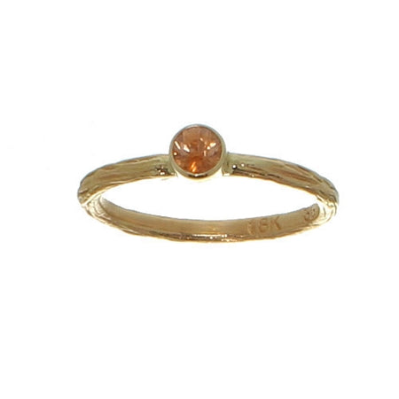 Sarah Graham Orange Montana Sapphire Pebble Ring