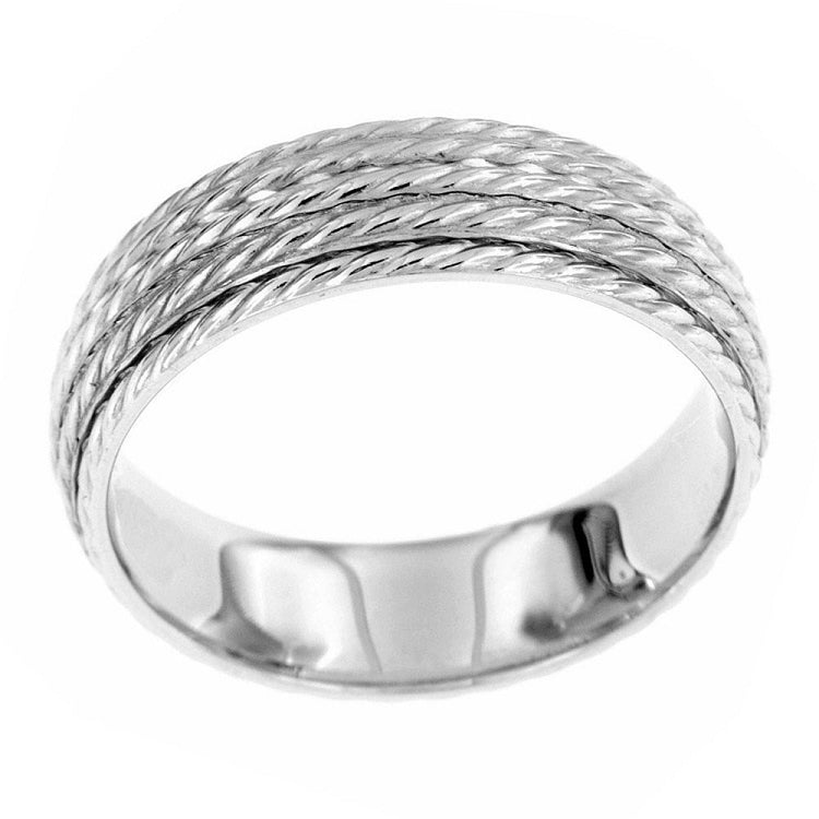 Coiled ropes design in sterling silver