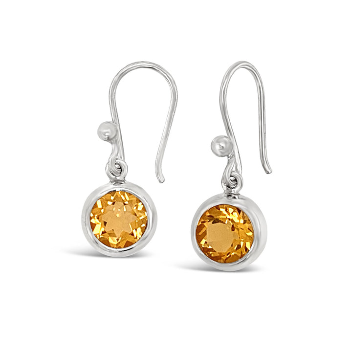 Full Moon Citrine Earrings