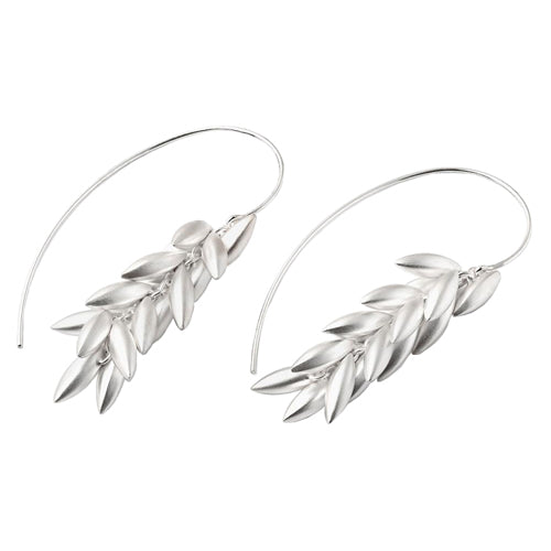 Meral Sartekin sterling silver wheat berry earrings