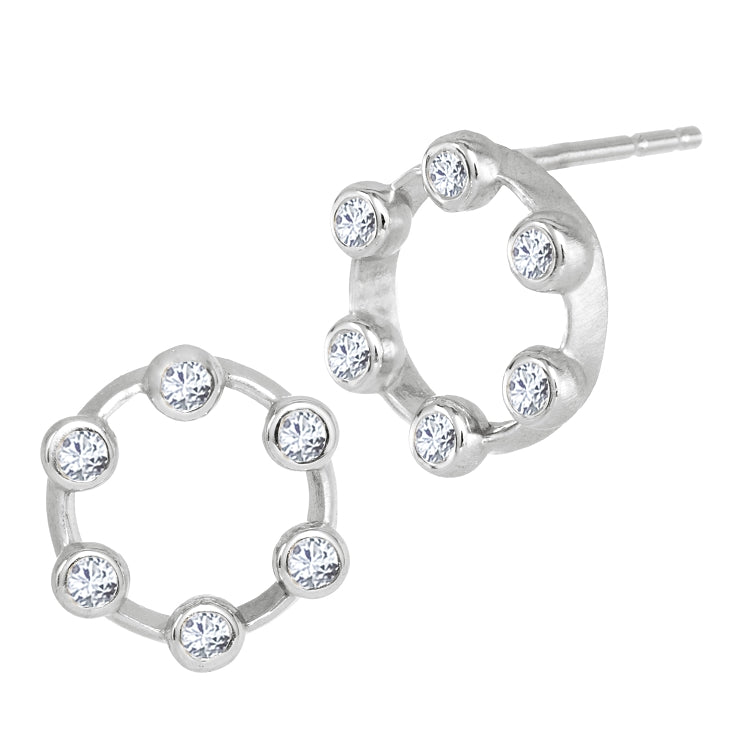 Suzy Landa  Hoopla Diamond Stud Earrings