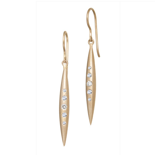 Suzy Landa Rose Gold Icicle Drop Earrings