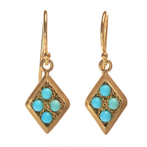 Amali Woven Turquoise Dangle Earrings
