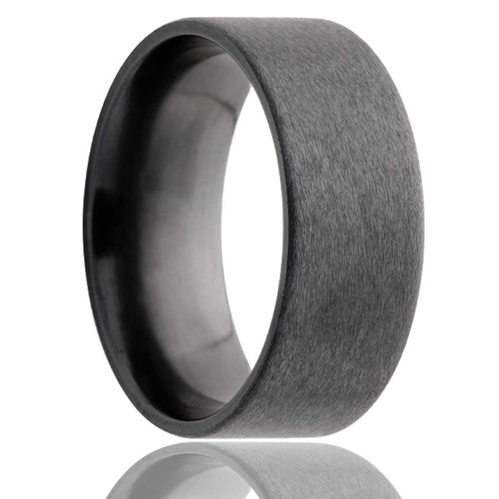 Flat Zirconium Band with Satin Finish