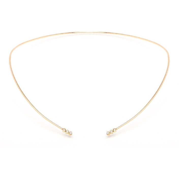 Zoe Chicco Gold and Diamond Open Collar Necklace