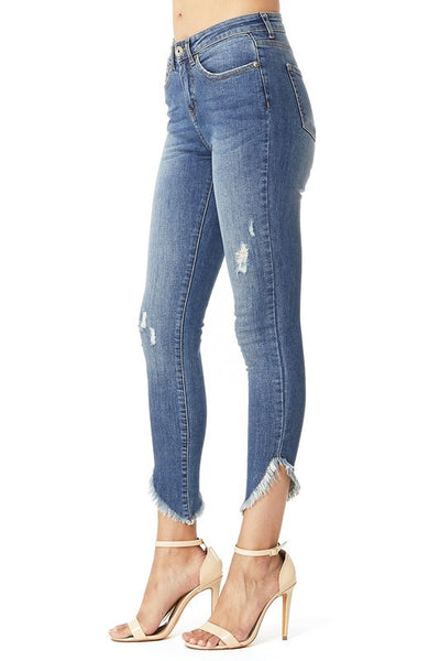 Frayed Ankle Jean