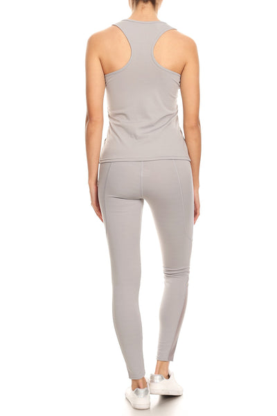 Racer Back & High Waist Pants Set