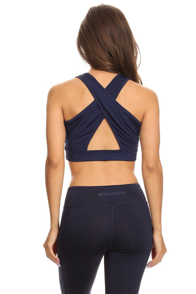 Crossed Back Sports Bra
