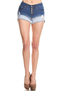 Denim Mid-Rise Shorts