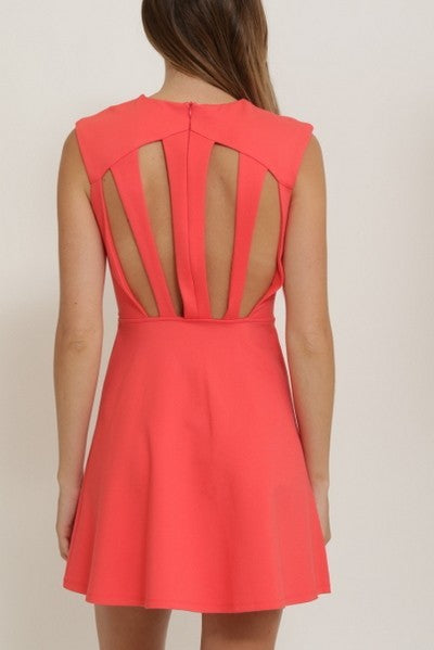Cut-Out Back Dress