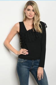 One Shoulder Dressy Top