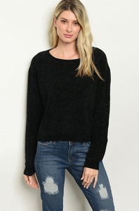 Open Round Back Sweater