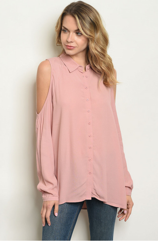 Cold Shoulder Dressy Blouse