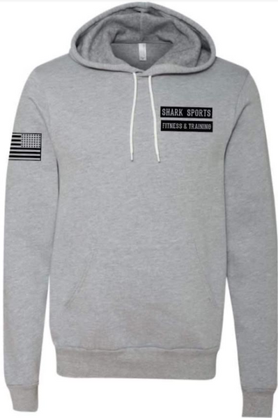 Gray Shark Hoodies