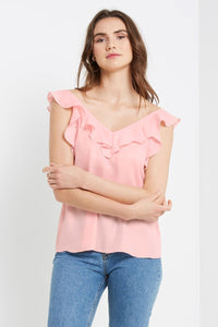 Open-Back Ruffle Top