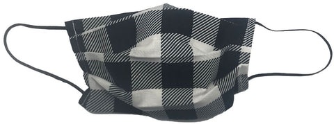 Black And White Plaid Facemask