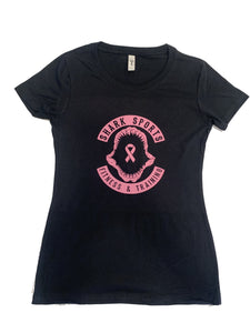 Women's Shark Sports Breast Cancer Awareness Shirt