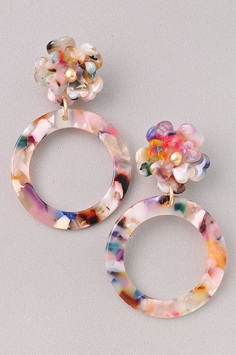 Dorothy - Floral Circle Earrings
